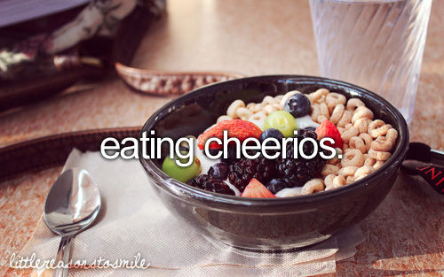 I dont eat cheerios with all that, but they still make me smile