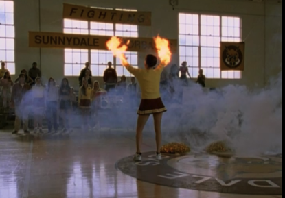 175. That awkward moment when you catch on fire while cheerleading too hard.