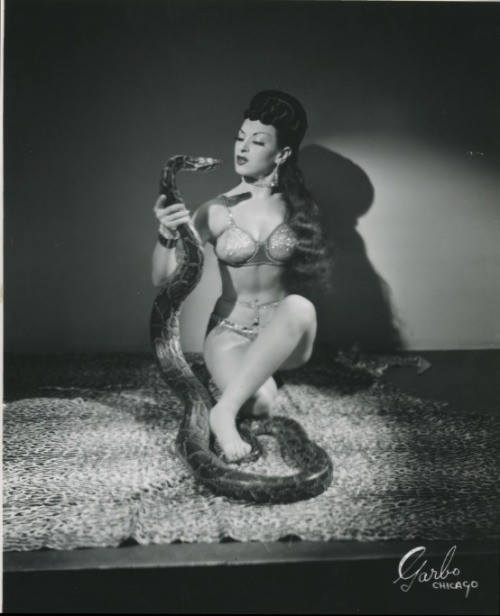 velmatakesthestand:  Vintage 8x10 of Shiva with one of her snakes.