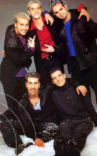 nsync4life:  Snow!!  I think Joey and JC look especially cute. XD