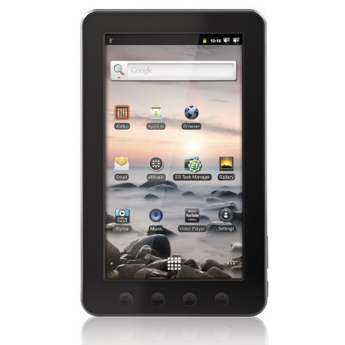Coby Kyros 7-Inch Android 2.3 4 GB Internet Touchscreen Tablet Features Browse the web, watch Youtube videos, checking e-mail, and much more with Android 2.3 7 inch LCD intuitive touchscreen Connect to the Internet wirelessly with high-speed AppsLib marketplace Plays popular video, music, and photo formats  (vía Gabestore)