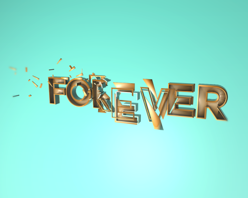 Text experiment in Cinema4D. Getting closer to my 3D text boo, Nik Ainley.