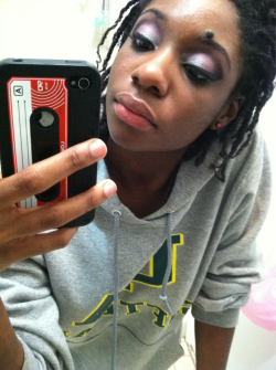 Make up…before I decided to make my locs smaller.
