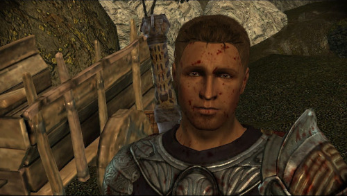 lyallfidelis:  Alistair, you're covered in blood. Stop with the puppy eyes- D'awww… alright.