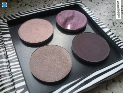 ZAO makeup selection in small zebra Z Palette.