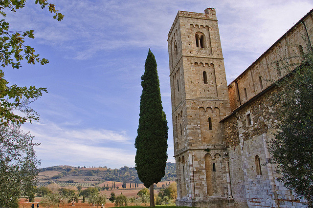 | ♕ |  Tuscan monastery - Sant'Antimo Abbey  | by © Julie Richards