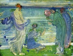 James McNeill Whistler, Variations in Green and Blue, 1868