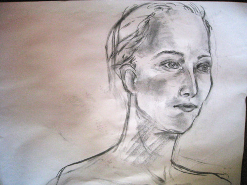 """Tilda Swinton""20 minute head study from Drawing the Human Figure this semester"