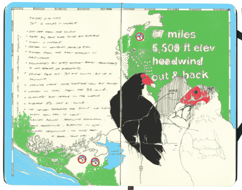 RIDE DRAWING: MARIPOSA HIGHWAY. Sometimes a road ride is long enough, new enough, or interesting enough to warrant a drawing. A visual expression of the feeling I got out there. A record, a diary, or a map. Or all of that. It's something that we at 18mph have been talking about for a while. So here we go.   It's a personal test to see whether these expressions actually work. And if the feeling can be captured. Brian and I are planning some bigger springs rides, I'll attempt to do the same with those. But let's start here, with the grueling ride up Mariposa Highway.
