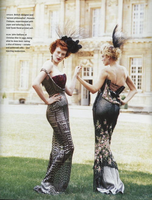 wornjournal:  John Galliano From: Vogue, 100 Years of Style p. 110