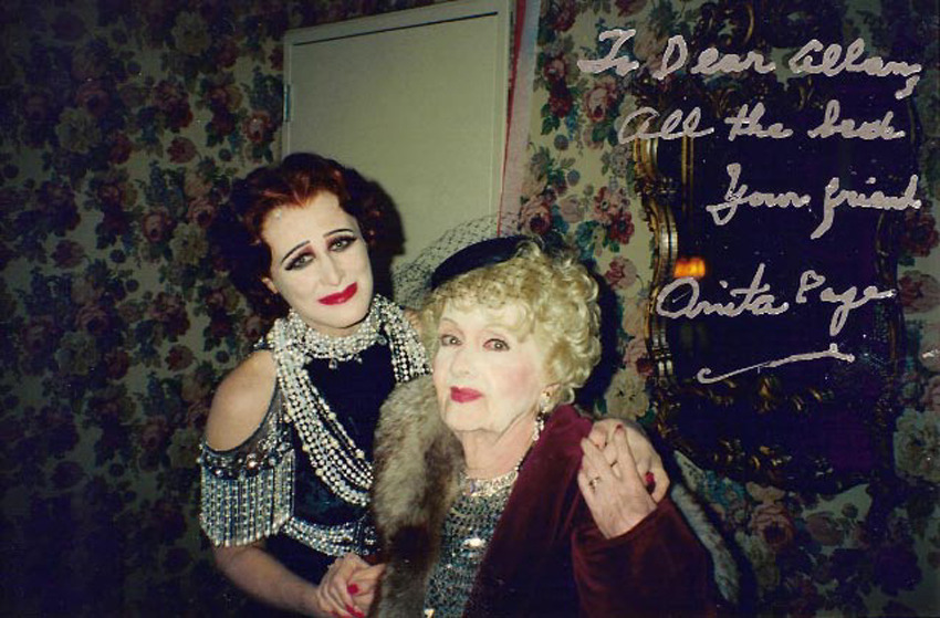 Glenn Close as Norma Desmond and Anita Page