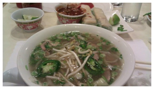 Back in CA and time for pho.