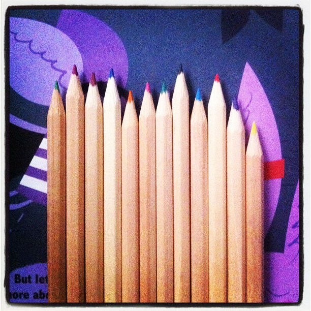 #colour #pens #stationery #myroom (Taken with instagram)