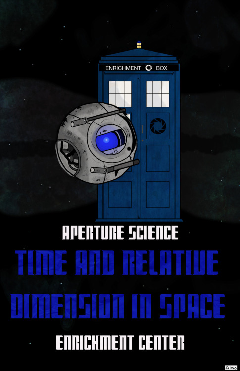 """Aperture Science Time And Relative Dimension In Space Enrichment Center"" 2.0  So with some great advice of Lee at Adventuring Company, I decided to redo my ""Aperture Science Time And Relative Dimension In Space"" piece. So, here it is, version 2.0!"