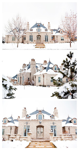 my dream mansion. in the snow.