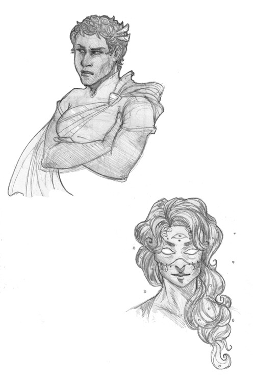 trowart:  Doodles, doodles. Today we have some babes from a comic that everyone should read.  Hello, my name is Zin'Rokh, Destroyer of — I mean, Yasmin and I love waking up to Saint's Way doodles. These are awesome!! It is a good morning.
