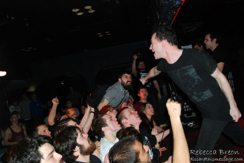 Pictures from Touche Amore and Defeater from the first date of tour at Lost Horizon in Syracuse, NY are up at http://www.discardthismessage.com