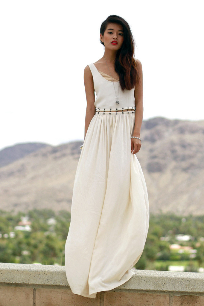 what-do-i-wear:  Blessed are the Meek Dress via Tags / American Apparel Nude Bra / House of Harlow Necklace /Forever 21 Bracelets / YSL Rouge Pur Lipstick (image: lusttforlife)  Always lovely