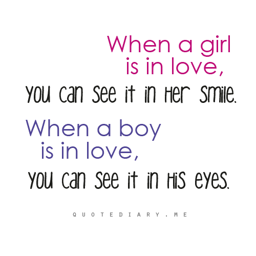 quotediaryofficial:  When both are in love you can see it in their face…