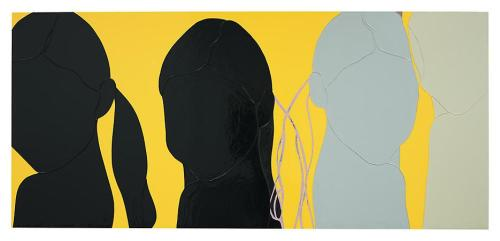 Gary HumeFour Ponytails. 2009Enamel on aluminum47 1/4 x 104 1/4 inches; 120 x 265 cm VIA MORE