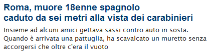 Il Darwin Award non glielo toglie nessuno. It's the evolution.