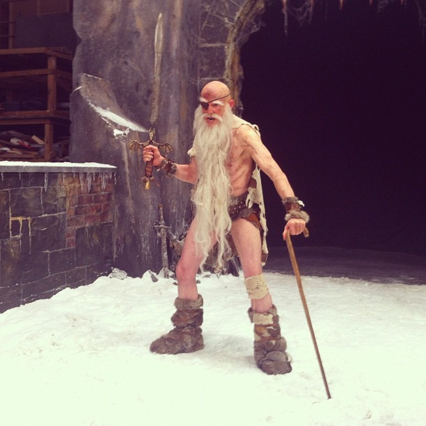snowgumfilms:  The man of the hour… COHEN THE BARBARIAN! #discworld #film #trollbridge  (Taken with instagram)