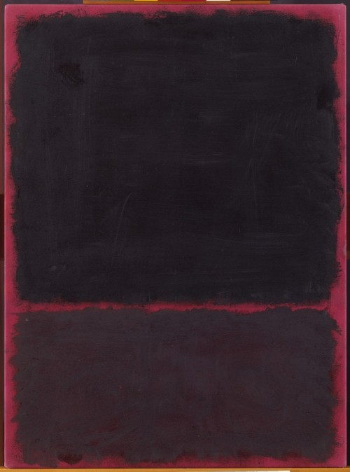 artpedia:  Mark Rothko - Untitled, 1967. Acrylic on paper mounted on masonite.