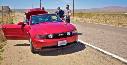 OH Edward Maya, road trip with a beautiful rented red mustang. Hoping to the same one day.
