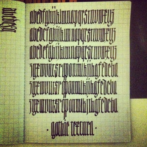 #textura #typography #gothic #lettering  (Taken with instagram)