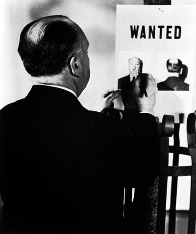 Pictured above: Sir Alfred Hitchcock, an aider and an abettor.