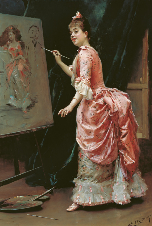 monsieurleprince:  Raimundo de Madrazo Y Garreta (1841-1920) - Model making mischief