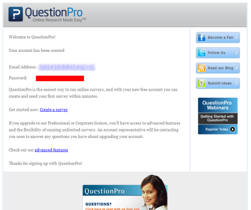 questionpro.com Online survey website.
