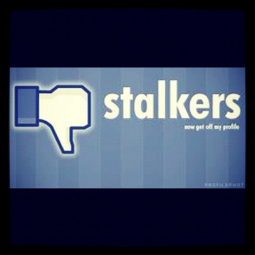 Today is National Stalking Awareness Day! So I guess everyone should take a break from #facebook! #Stalkers … (Taken with instagram)