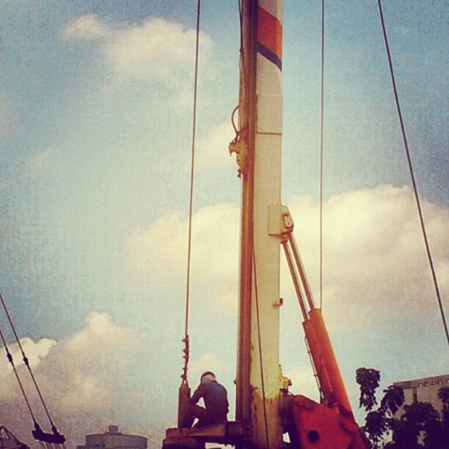Pole Maker #instagram #pole #industries #road #photooftheday #jakarta #instagood #jj_forum (Taken with instagram)