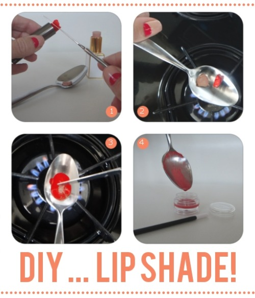 truebluemeandyou:  DIY Custom Lipstick Color. Full tutorial from The Beauty Department here.