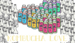 Kombucha Love. Stabilo pen + Photoshop. Click to view large!