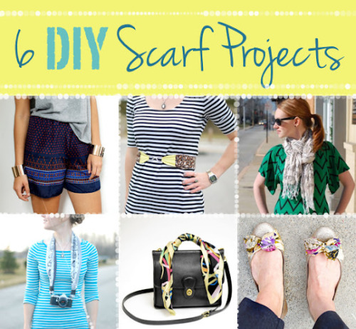 DIY Scarf Projects Roundup. All the links and tutorial information from guest poster Stacie of Stars for Streetlights for Thanks, I Made It here.
