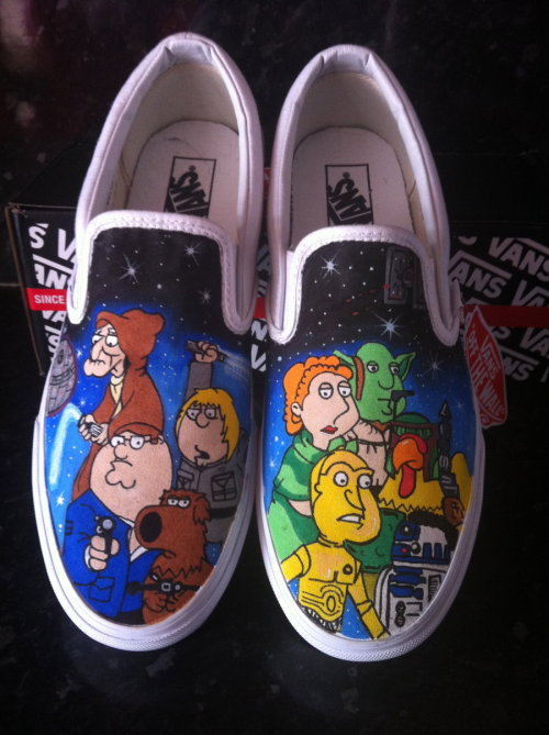 tiefighters:  Custom Family Guy Star Wars Vans Create by Julian from Off The Wall Art