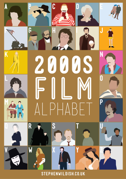 Stephen Wildish's 'Film Alphabet' Poster Series | Stephen Wildish is an artist, designer and illustrator has created a series of posters that feature a film for every letter of the alphabet.