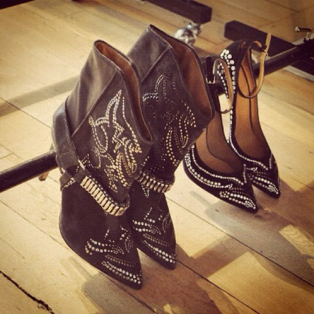 Isabel Marant boots and shoes from the Fall 2012 collection  (Taken with instagram)