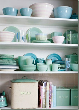 Vintage blue dishes