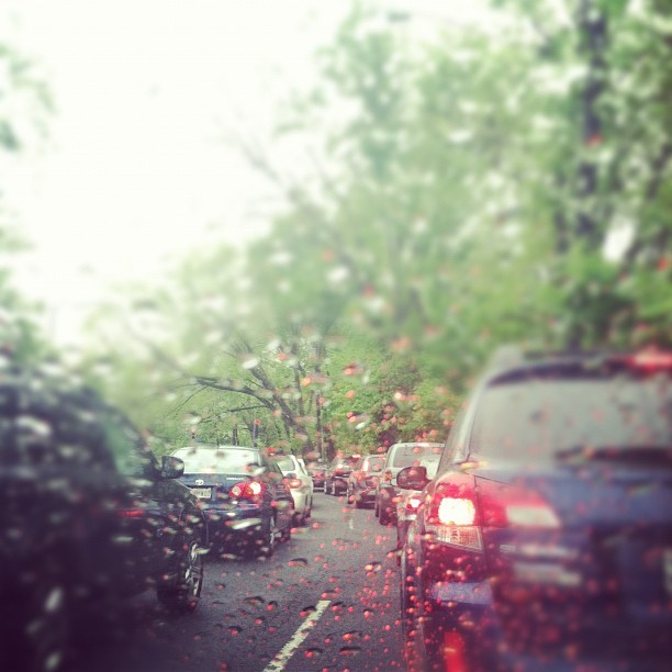 #DC commute-just keep waiting! #traffic #street #city  (Taken with instagram)