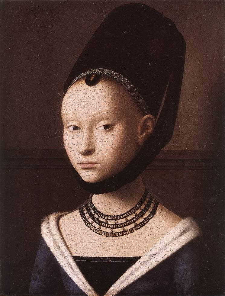 brazenswing:  Petrus Christus: Portrait of a Young Girl, 1460.