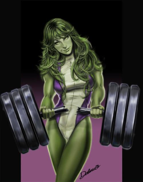 bluedogeyes:  SHE HULK by crisdelara04