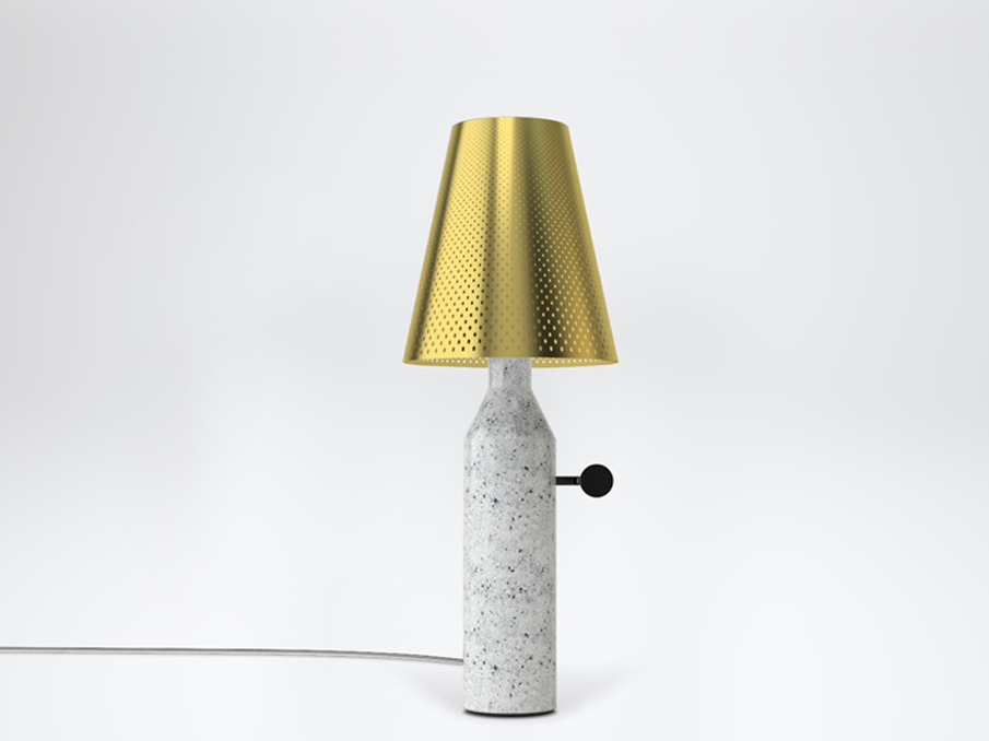 VULCAIN a table lamp by Léa Padovani & Sébastien Kieffer.