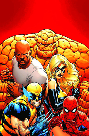 30 Days of Marvel: Day 7: Favorite teamI'd say the X-Men, but there are so many X-Men teams: the original X-Men, the New X-Men, the Red Team, the Blue Team, the Utopia team, the team at Wolverine's school (I shake my head sadly), the New Mutants, the New Mutants who turned into X-Force, the next X-Force, the current X-Force, the Science Team, X-Factor (first team, second team, third team), the Dark X-Men, the new Dark X-Men, and so on… possibly ad infinitum.Maybe I'll just say the New Avengers. I love seeing Wolverine and Spider-Man on the same team, and Brian Michael Bendis has the snappiest dialogue ever.