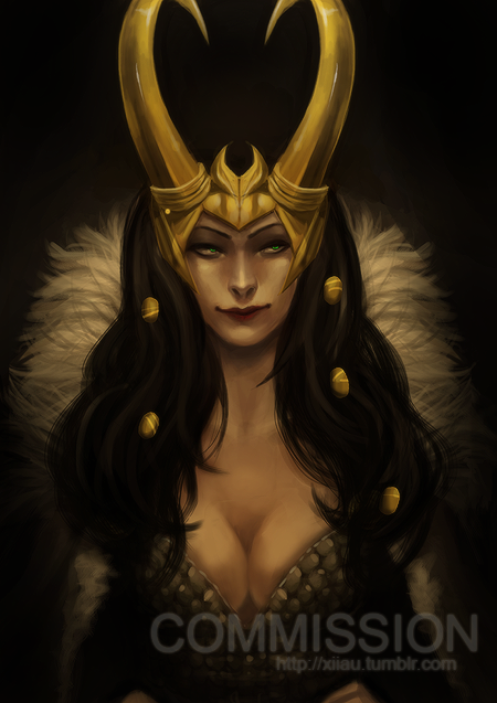Lady Loki - Commission 15$ sketch commission Photoshop color-sketch…….. 15$usd (partial-body, no or simple background)