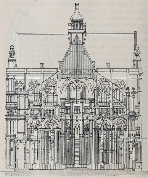 archimaps:  Section of Saint Eustache, Paris