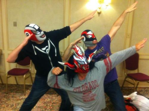 Jushin Thunder Liger with the Super Smash Bros. Much greatness in this picture.