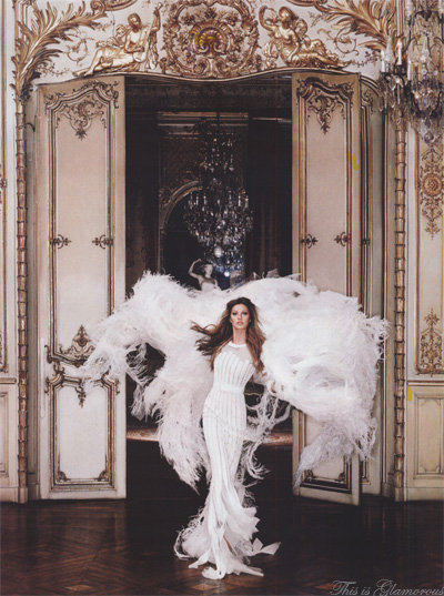 Late for a very important date… |Gisele Bundchen by Karl Lagerfeld for Harper's Bazaar June 2007. Image Source|